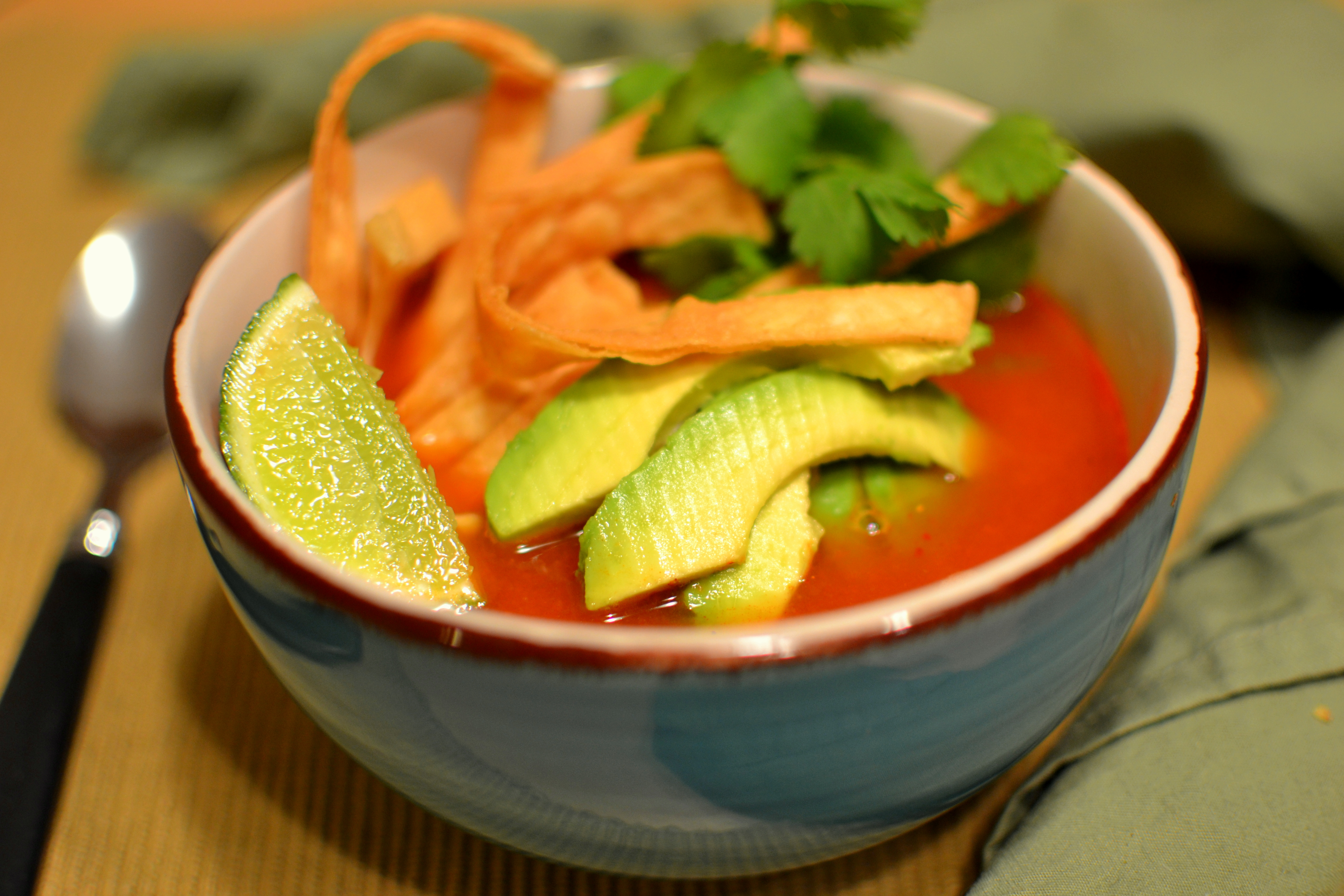 soup sopa azteca chicken tortilla soup six can chicken tortilla soup ...